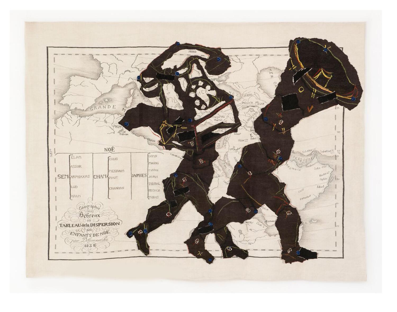 Geographie des Hebroux ou Tableau de la dispersion des Enfants de Noe Size: 2.44m x 3.25m Edition of 3