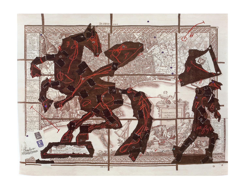 Pianta della Citta di Napoli Size: 3.47m x 4.54m (Studio edition)  Edition of 6 (plus 2 APs and Studio Copy)