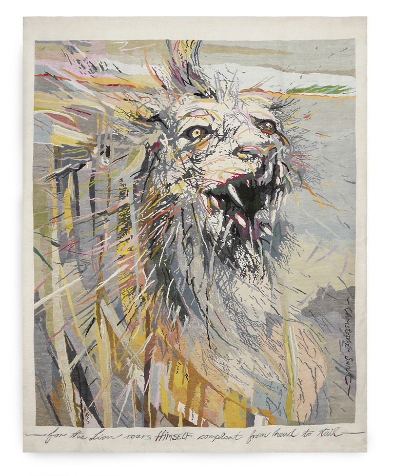 The lion roars himself compleat... Size: 2.10m x 2.63m Edition of 5